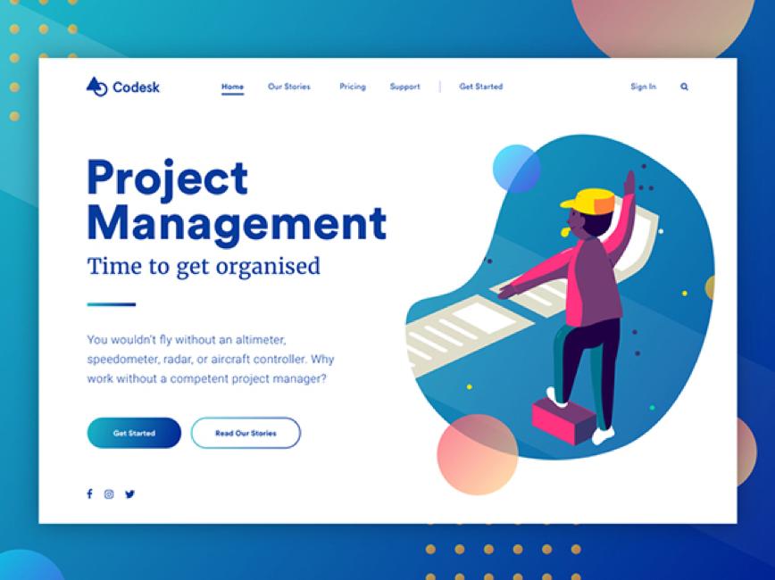 着陆页概念 - 项目管理.png